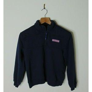 Vineyard Vines Medium Zip Pullover Sweatshirt Blue